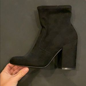 Steve Madden black sock booties